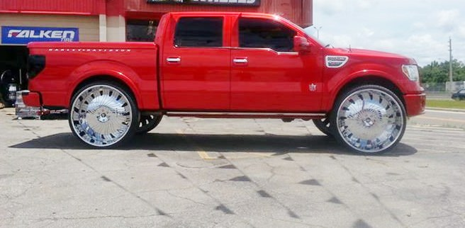 30 Inch Rims On Trucks : Custom harley trucks autos post