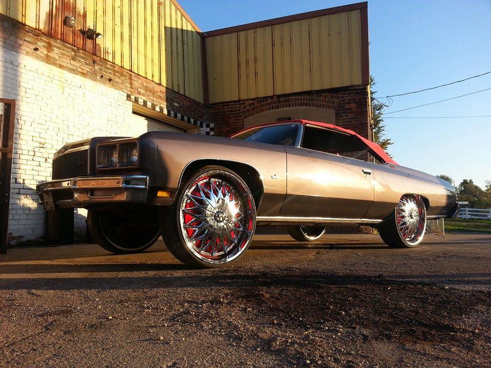 30 Inch Rims On Chevy : Box chevy on inch ballers wheels big rims custom