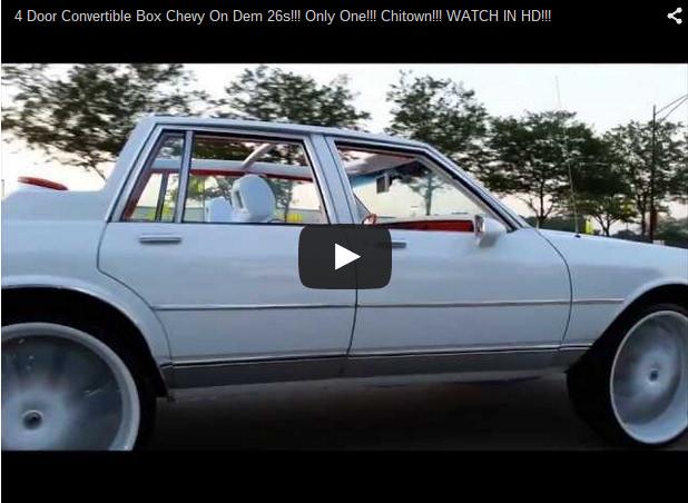 4 Door Convertible Box Chevy On Dem 26s Big Rims