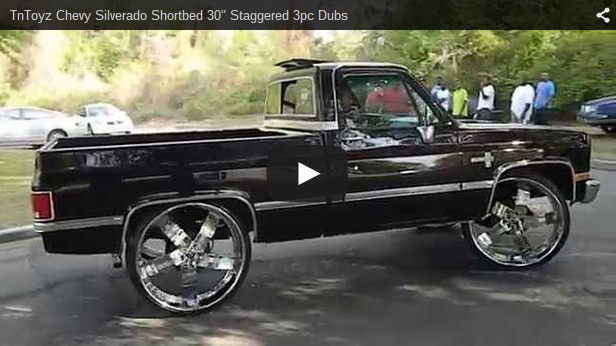Chevy Silverado Shortbed 30 Quot Staggered 3pc Dubs Big Rims