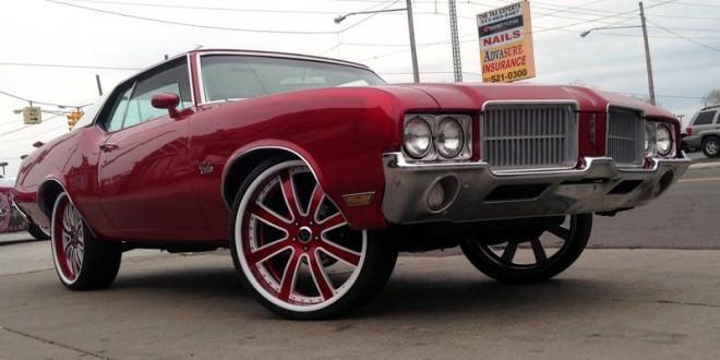 Cutlass On 30 Inch Rims : Oldsmobile cutlass on rucci wheels big rims custom