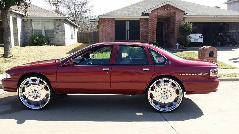 Chevy Impala Sitting On 30 Inch Forgiato Big Rims