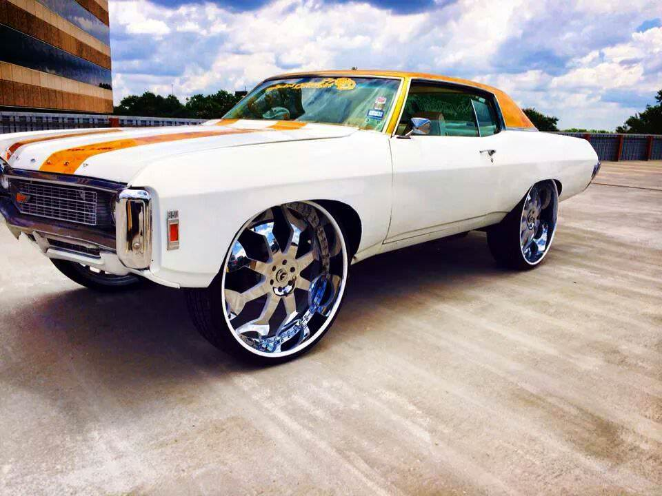 Chevy Donk riding on 28 inch Forgiato wheels - Big Rims - Custom Wheels