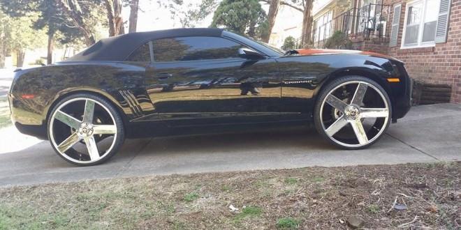 Camaro On 30 Inch Rims : Chevy camaro on inch ballers big rims custom wheels