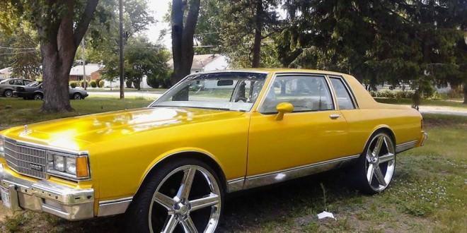 2 door box chevy on 28 inch irocs big rims custom wheels - Custom box chevy caprice interior ...