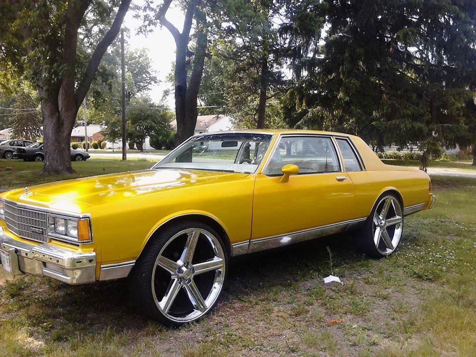 2 Door Box Chevy on 28 inch Irocs - Big Rims - Custom Wheels
