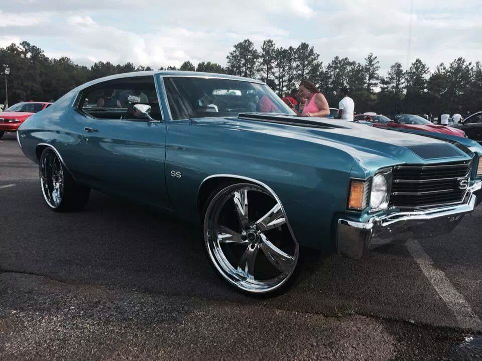 What A Beauty Chevy Chevelle Ss On 24 S Big Rims