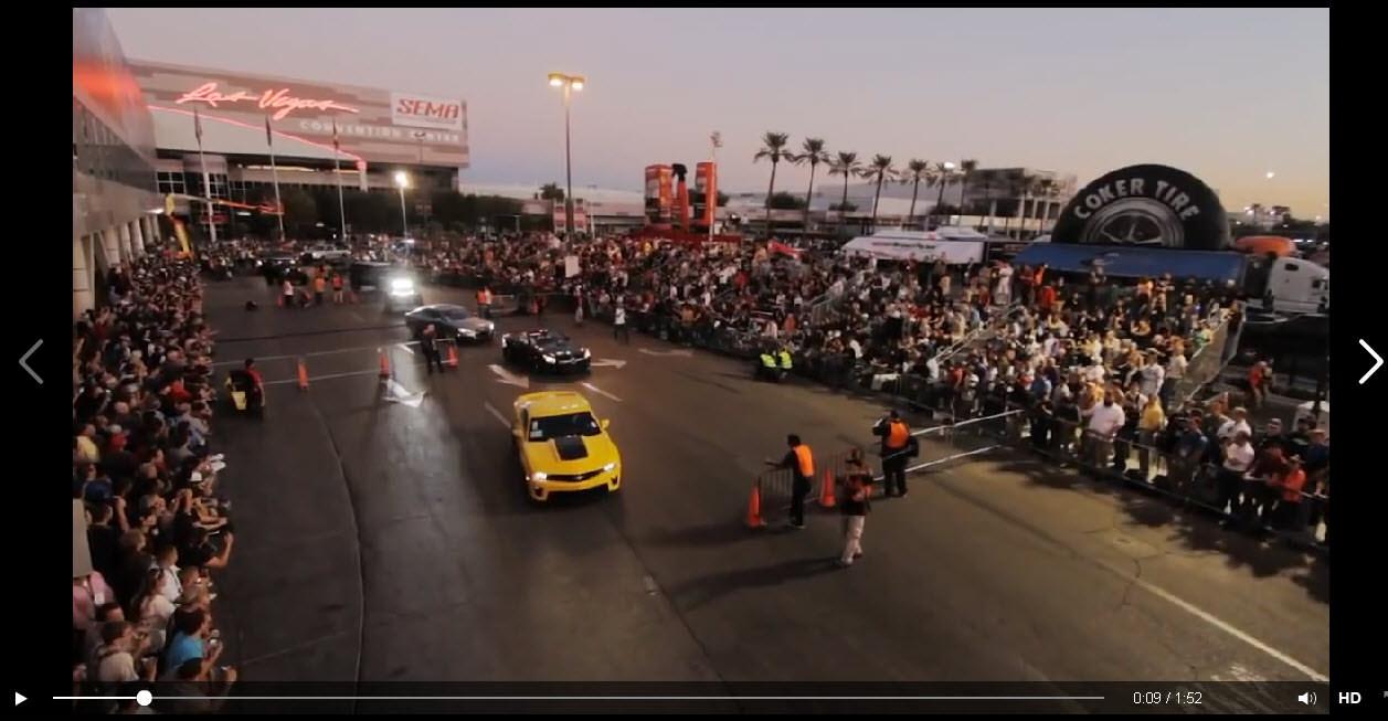Awesome Video Sema 2013 Car Parade Big Rims Custom