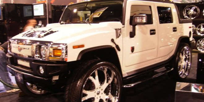 30 Inch Rims On Hummer H2 : White on hummer inch rims big custom