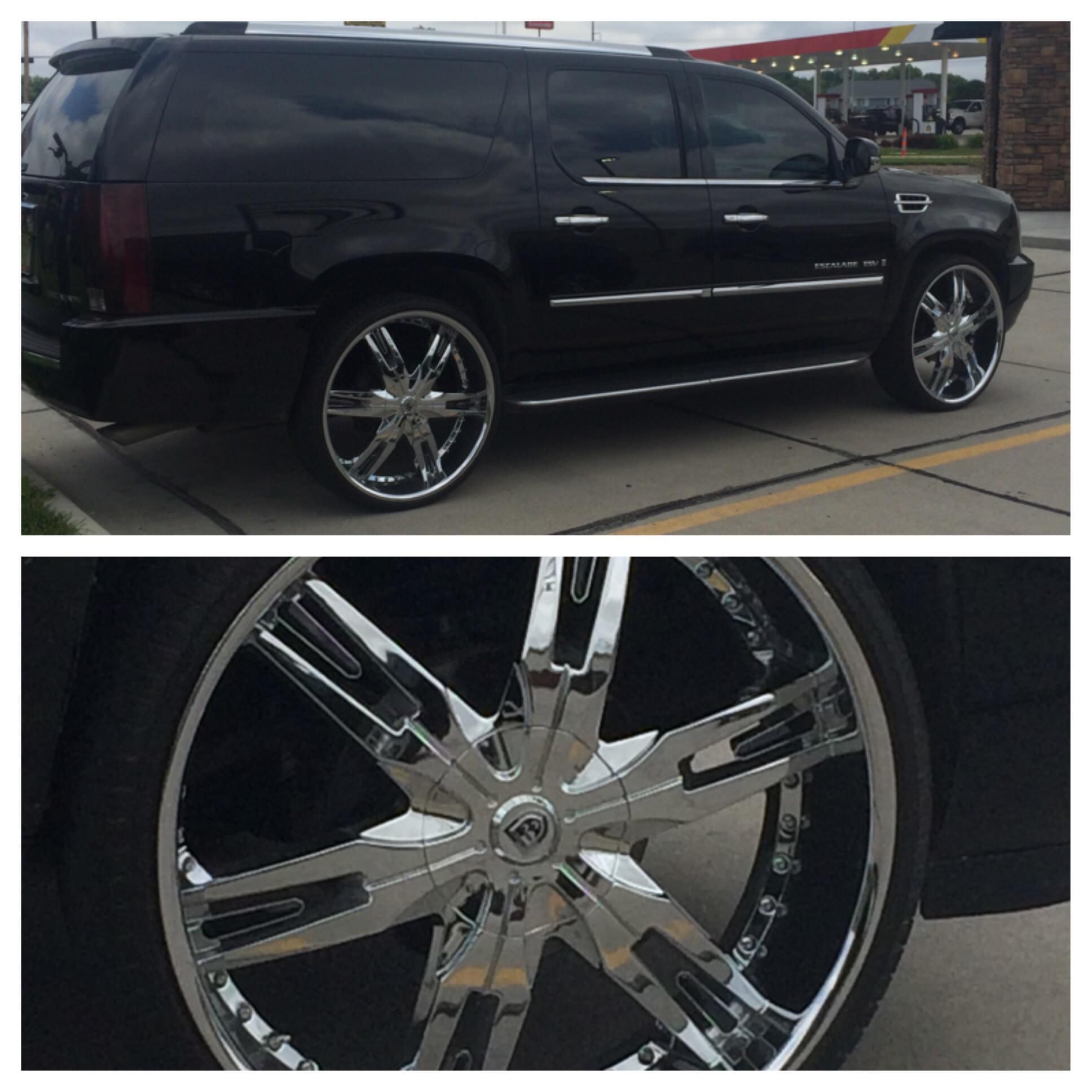 Chris Cadillac Escalade On 28's