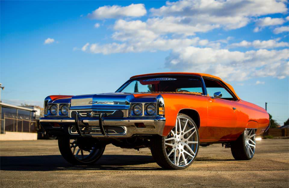 Tyga S Chevy Impala On 28 Quot Forgiato S Big Rims Custom