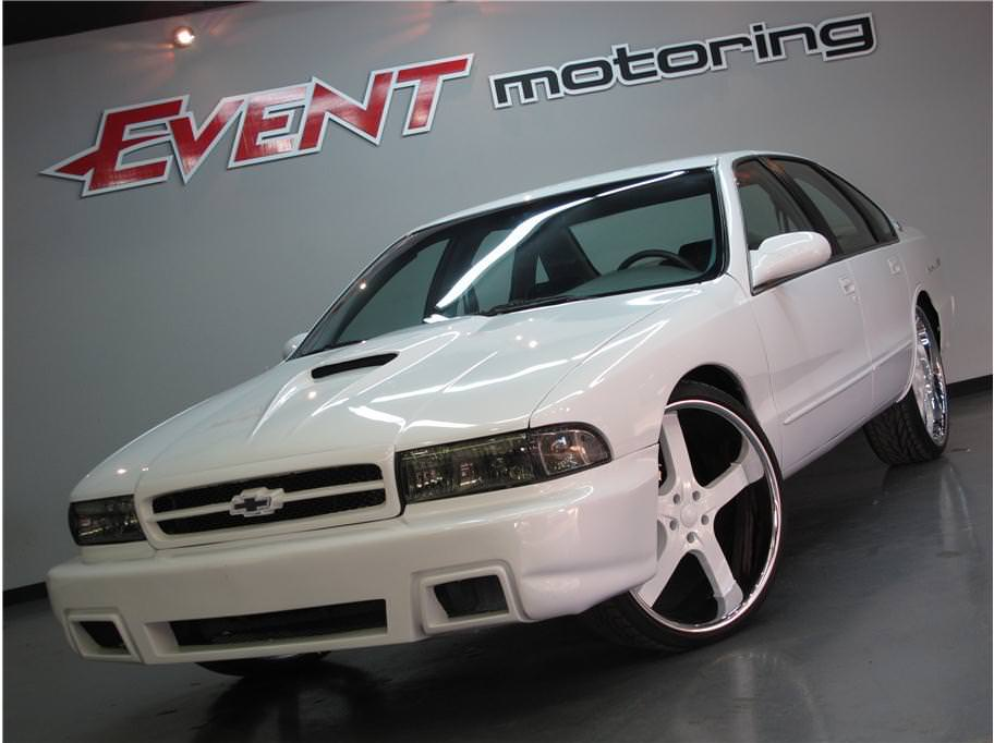 All Custom White On White Chevy Impala on 26's - Big Rims ...