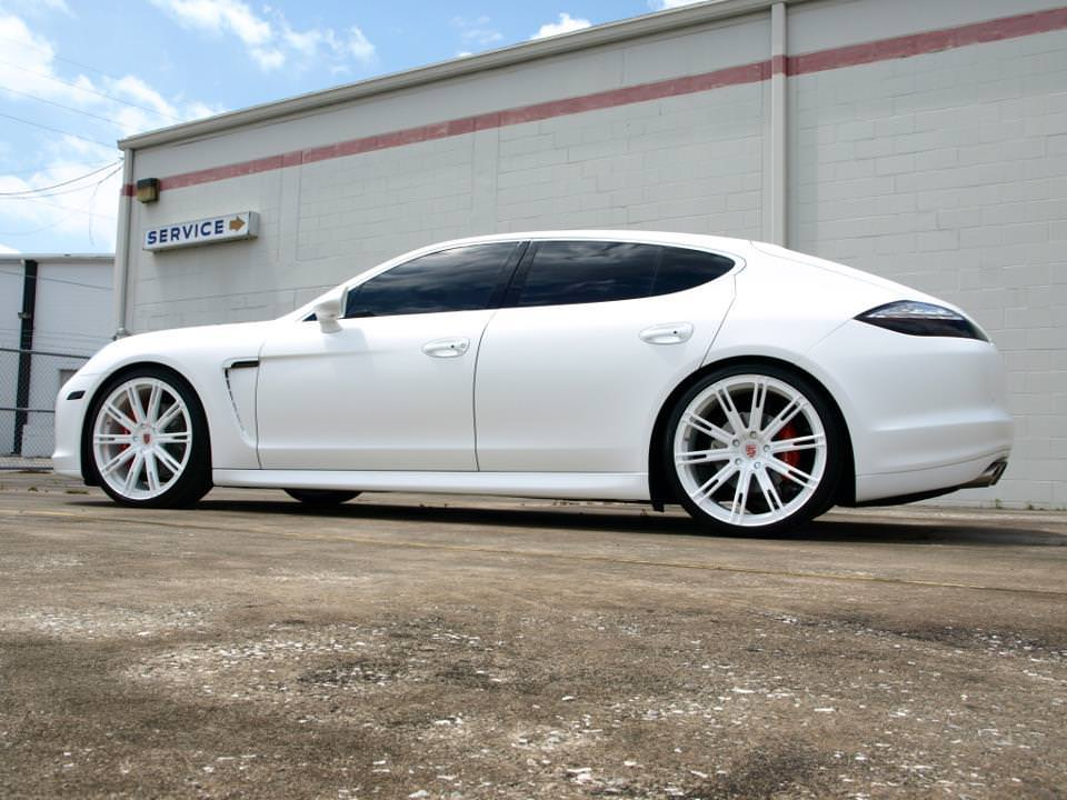 Gorgeous White On White Porsche Panamera On 22 S Big