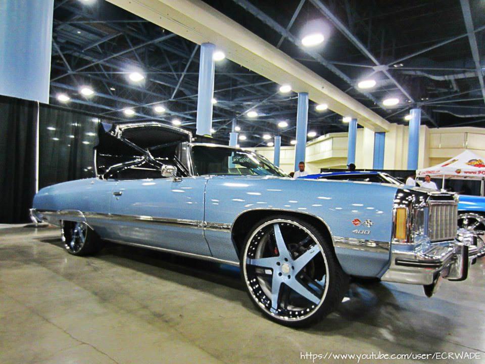 Beautiful Carolina Blue Donk Vert on 26's - Big Rims ...
