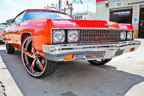 Rapper Rick Ross S 1973 Impala Donk Big Rims Custom Wheels