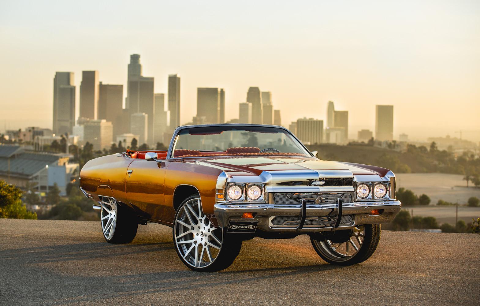 "Tyga's Chevy Impala On 28"" Forgiato's - Big Rims - Custom Wheels"