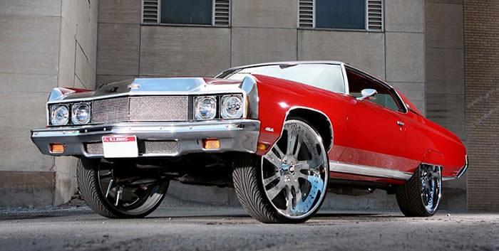 Chevrolet Impala Coupe on 28's - Big Rims - Custom Wheels