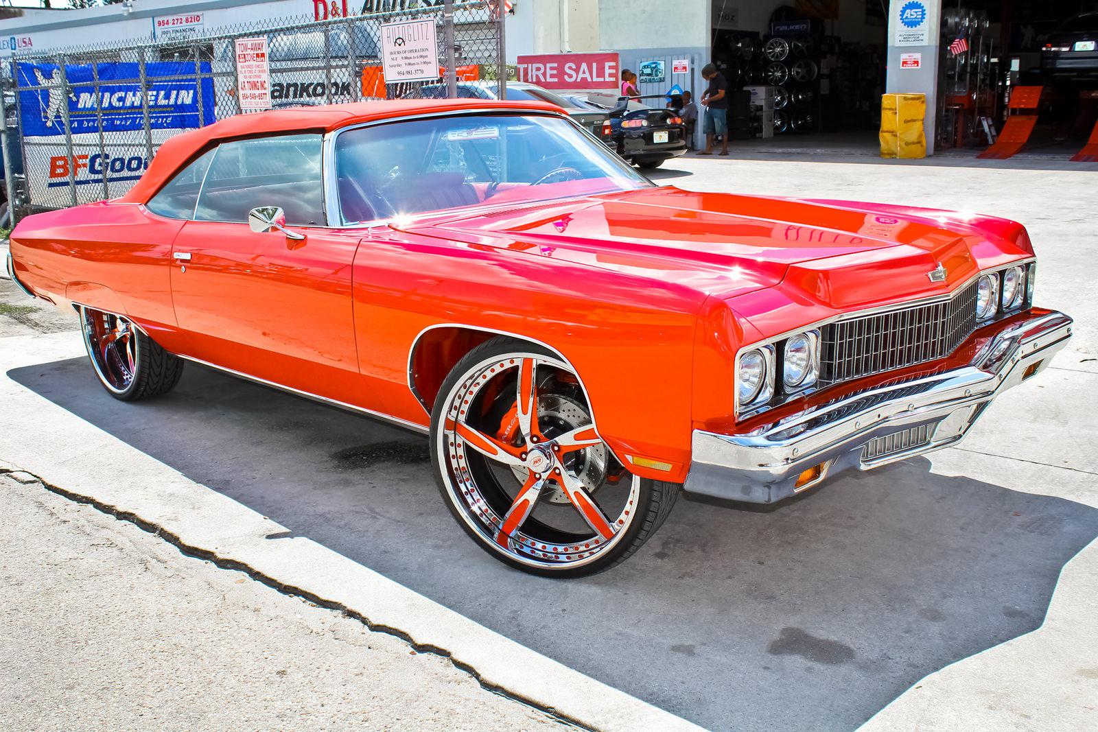 Rapper Rick Ross's 1973 Impala Donk - Big Rims - Custom Wheels