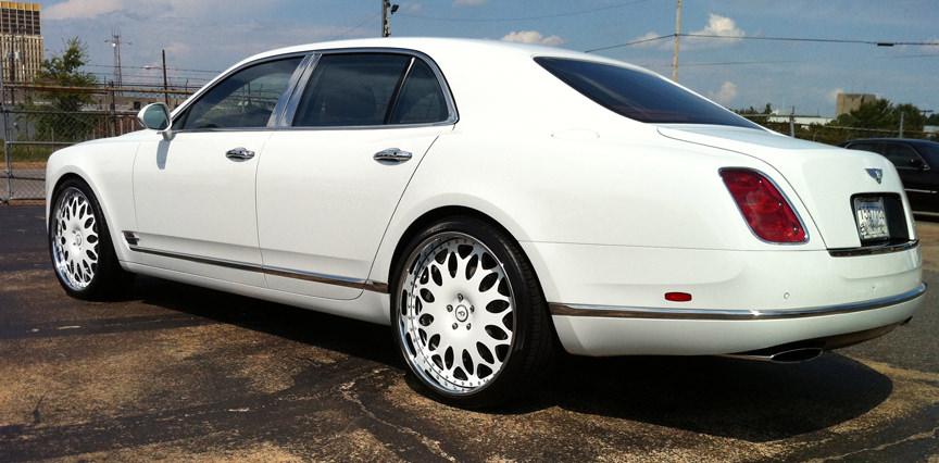 Zachary Randolph's White Bentley Mulsanne