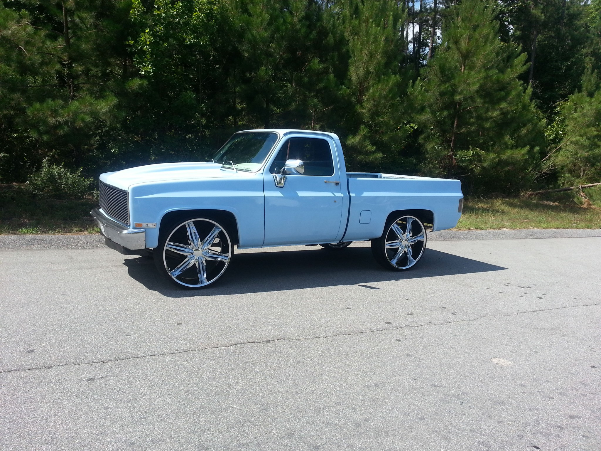 Maurice 1984 Chevy Short Bed On 28 S Big Rims Custom