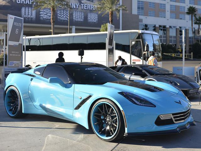 widebody corvette stingray on forgiato wheels big rims