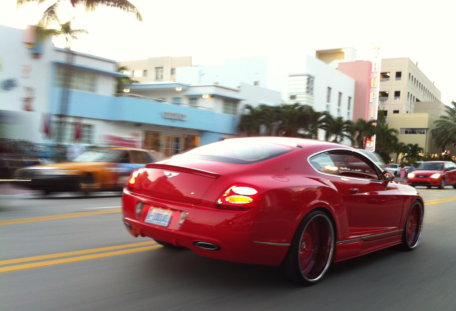 Red Wide Body Bentley On Forgiato Wheels Big Rims