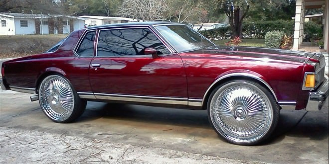 chevy caprice classic 2 dr coupe on 28 dub floaters   big