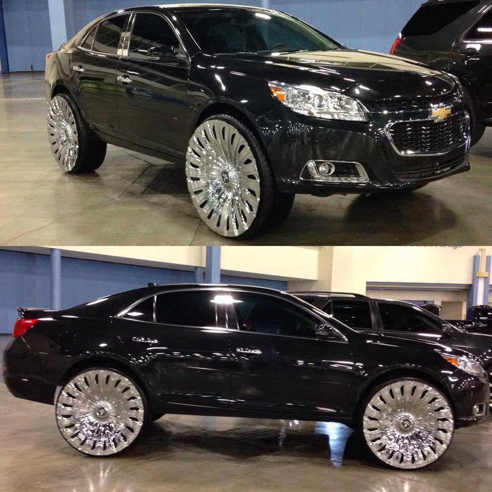 Chevy Tahoe Rims >> Von FoSho Bell's 2014 Chevrolet Malibu on 28 inch DuB with ...