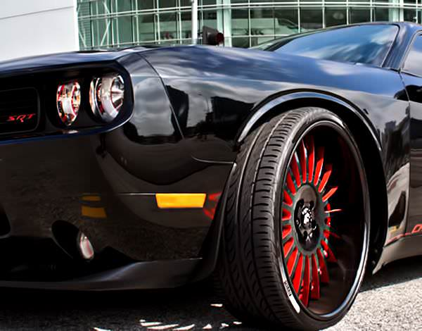 Custom Dodge Challenger Srt On Forgiato S Big Rims