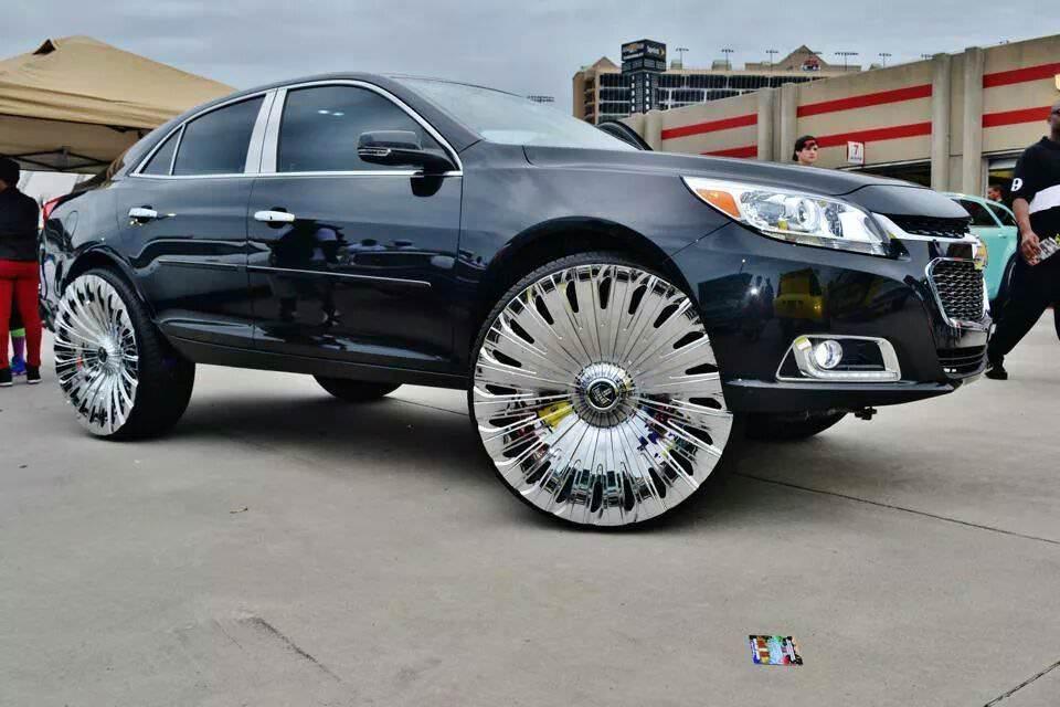 Von FoSho Bells 2014 Chevrolet Malibu On 28 Inch DuB With