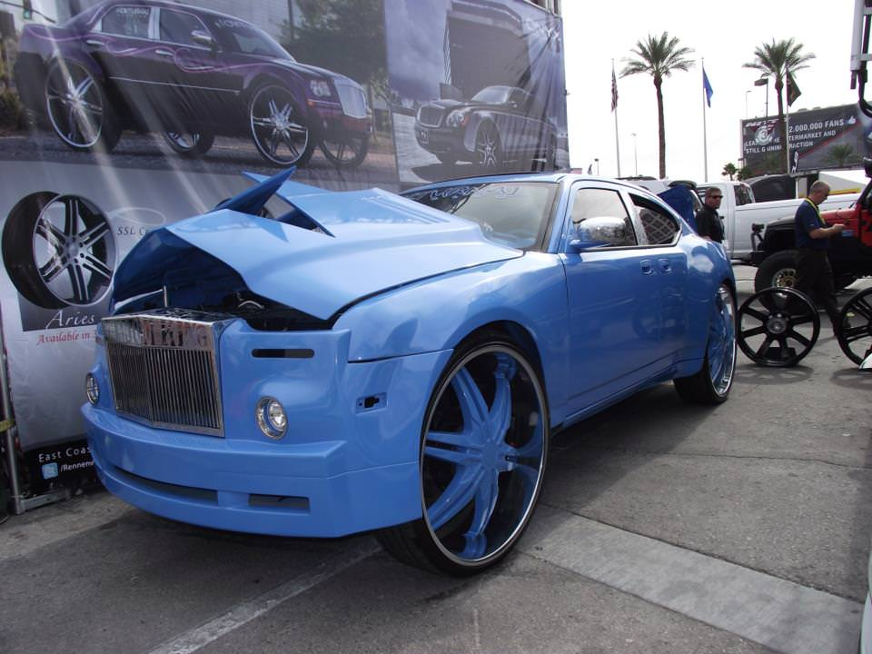 Charger On 30 Inch Rims : Fully custom dodge charger on inch wheels with a rolls