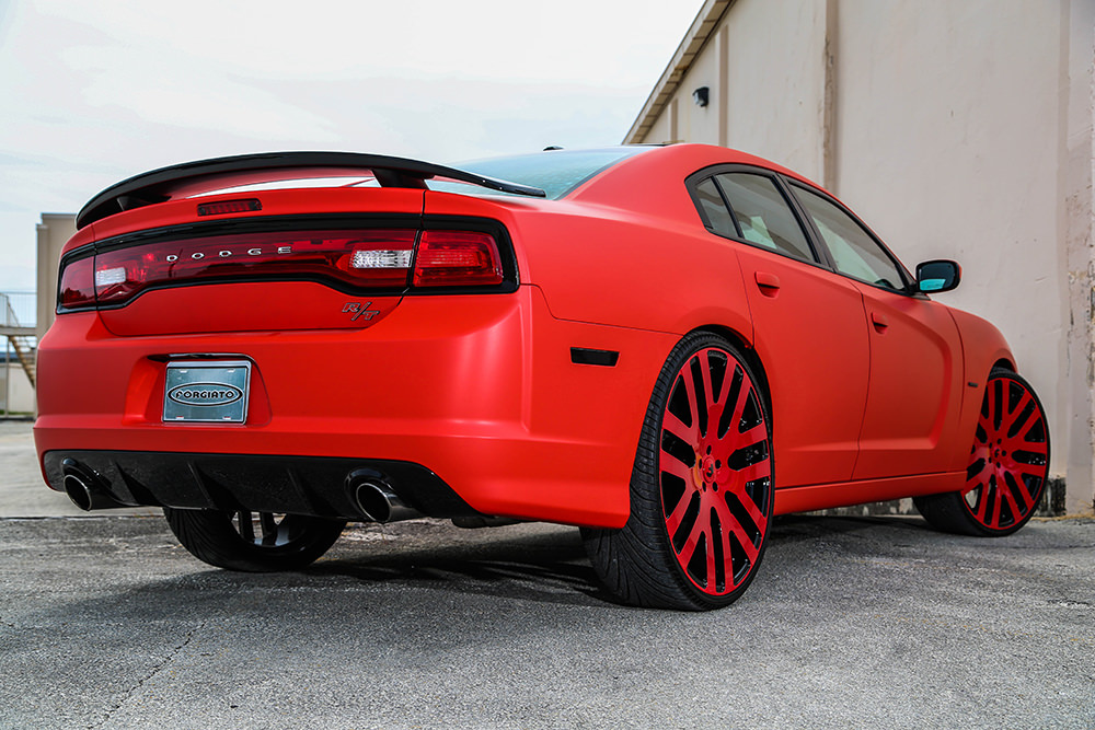 Matte Red Dodge Charger R T On Forgiatos By Tate Designs