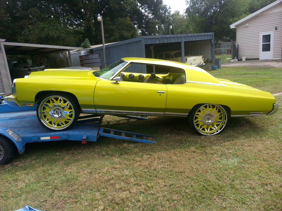 Lime Gold Green 73 Caprice On 26 inch Forgiatos - Big Rims ...