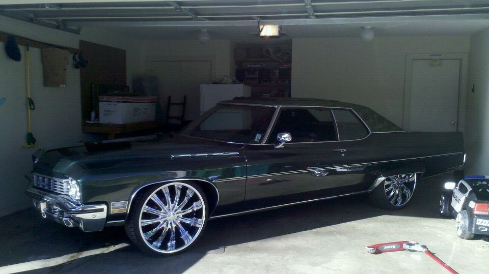 1972 Buick Electra 225 On 24 S Big Rims Custom Wheels