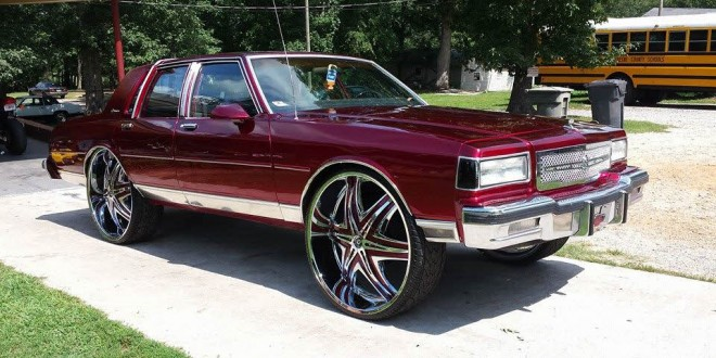 BADASS: Candy Painted Box Chevy on 30's Diablo Wheels ...