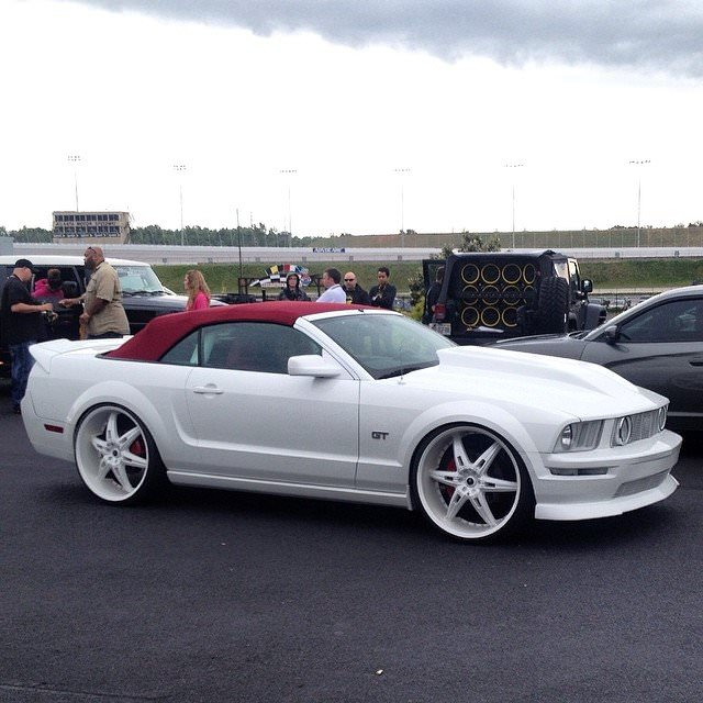 Badass White on White Custom Convertible Ford Mustang GT ...