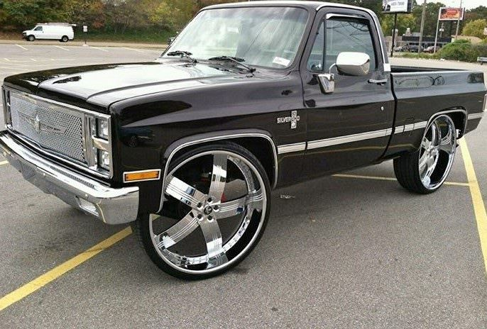 Bad Ass Old School 1985 Chevy C10 On 30 S Big Rims