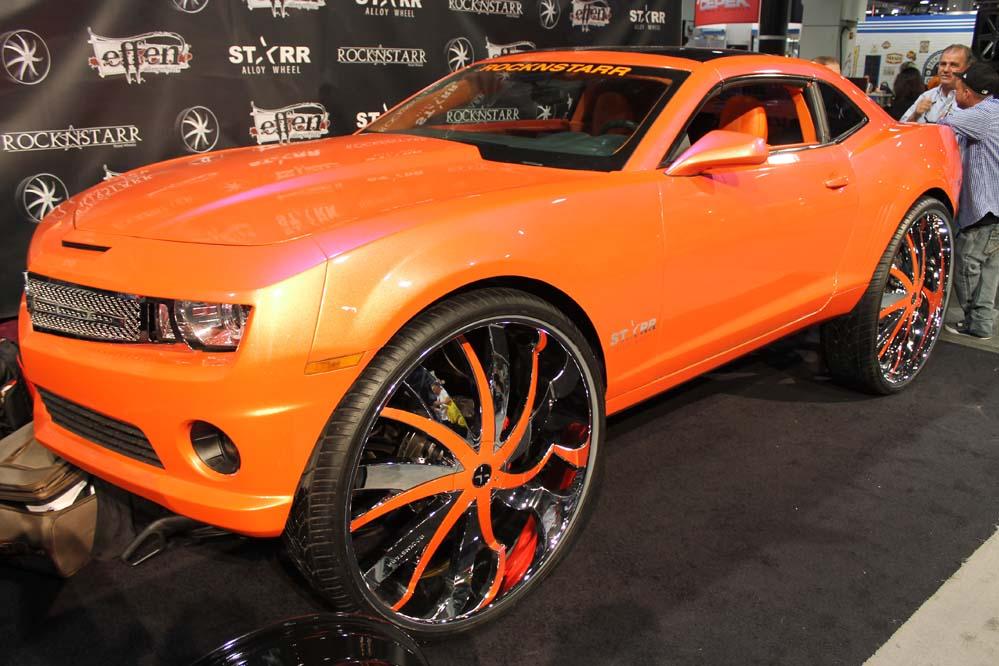 Car Show Custom First Camaro 34 Inch Wheels Big Rims