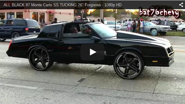 "ALL BLACK 87 Monte Carlo SS TUCKING 26"" Forgiatos - 1080p ..."