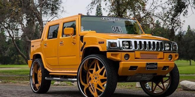 30 Inch Rims On Hummer H2 : Hummer h on inch forgiato wheels big rims custom