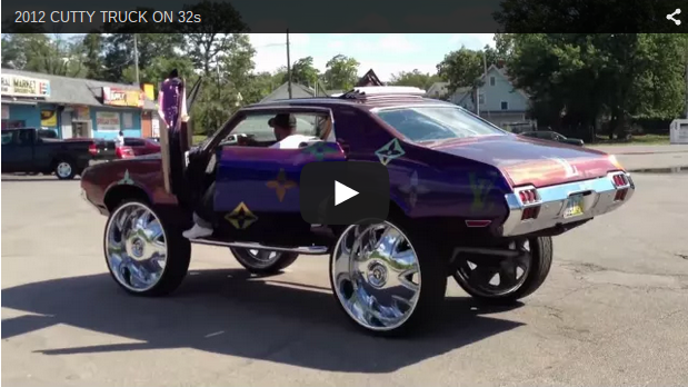 Oldsmobile Cutlass On 32s Big Rims Custom Wheels