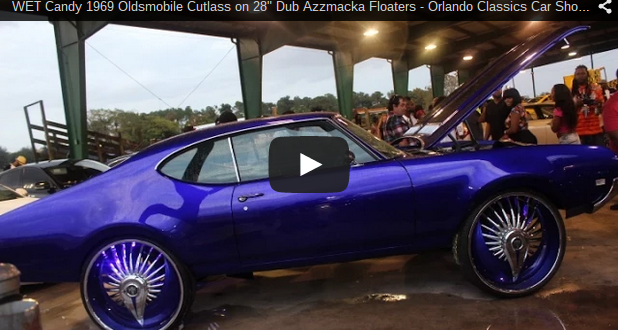 Wet Candy 1969 Oldsmobile Cutlass On 28 Quot Dub Azzmacka Floaters Orlando Classics Car Show 2014