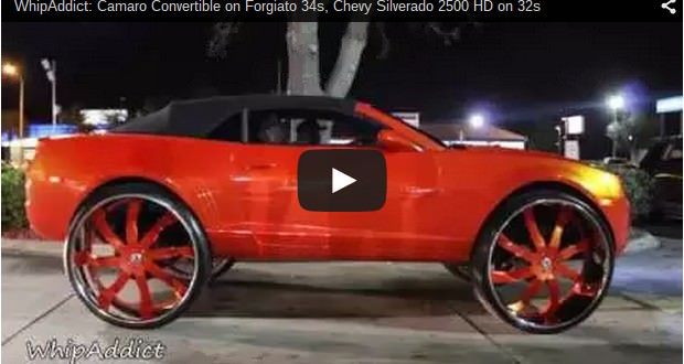 Camaro Convertible On Forgiato 34s Chevy Silverado 2500