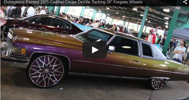 Outrageous Painted 1975 Cadillac Coupe Deville Tucking 26 Quot Forgiato Wheels Big Rims Custom
