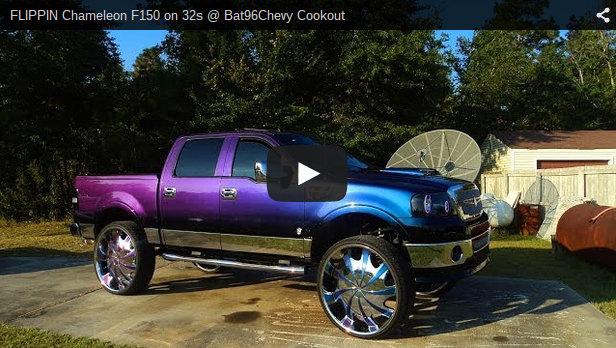 Chameleon F150 On 32s Big Rims Custom Wheels