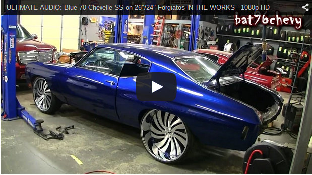 Ultimate Audio Blue 70 Chevelle Ss On 26 Quot 24 Quot Forgiatos In The Works 1080p Hd Big Rims