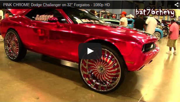 "PINK CHROME Dodge Challenger on 32"" Forgiatos - 1080p HD ..."