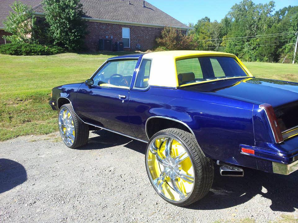 Cutlass On 30 Inch Rims : Oldsmobile cutlass on s big rims custom wheels