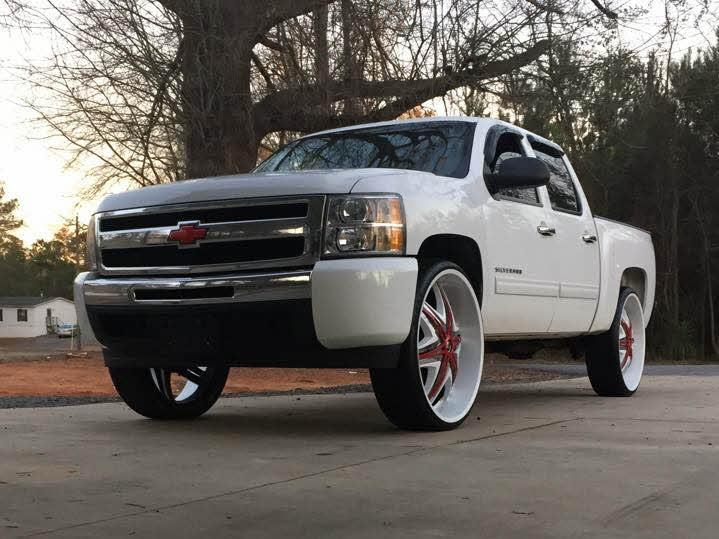 White 30 Inch Rims : White on chevy silverado inch diablo wheels