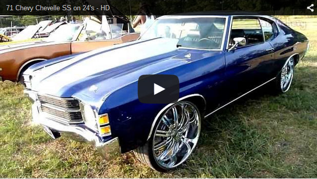 71 Chevy Chevelle Ss On 24 S Hd Big Rims Custom Wheels
